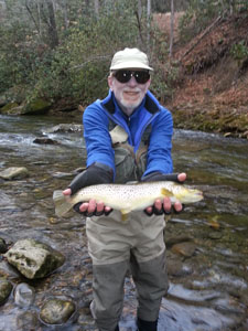 Asheville fly fishing guides on the Davidson River