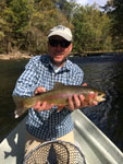 a big South Hoston River brown trout