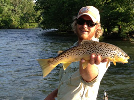 Asheville, NC fly fishing guides on the Watauga River