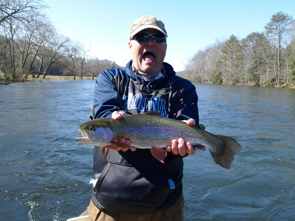 Asheville, NC fly fishing guides on the South Holston River