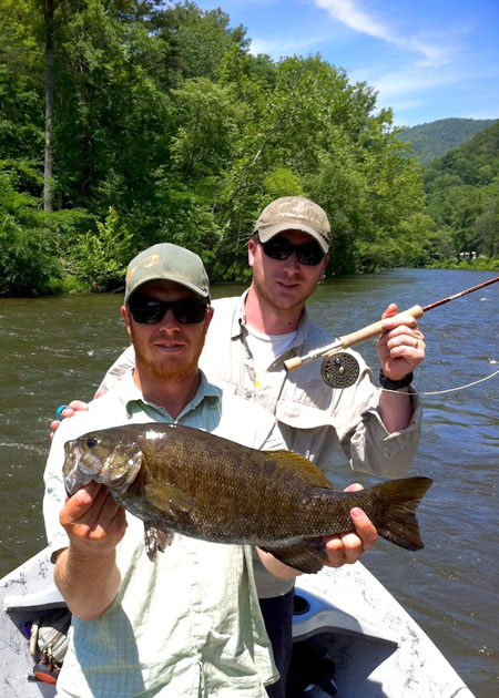 smallmouth bass fishing near Asheville, NC
